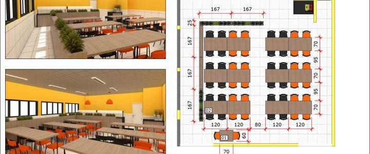 Medidas e layout para restaurantes e lanchonetes