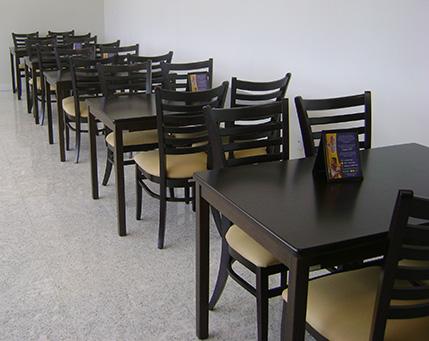 Mesa e cadeira para restaurante for Mesas para restaurante usadas